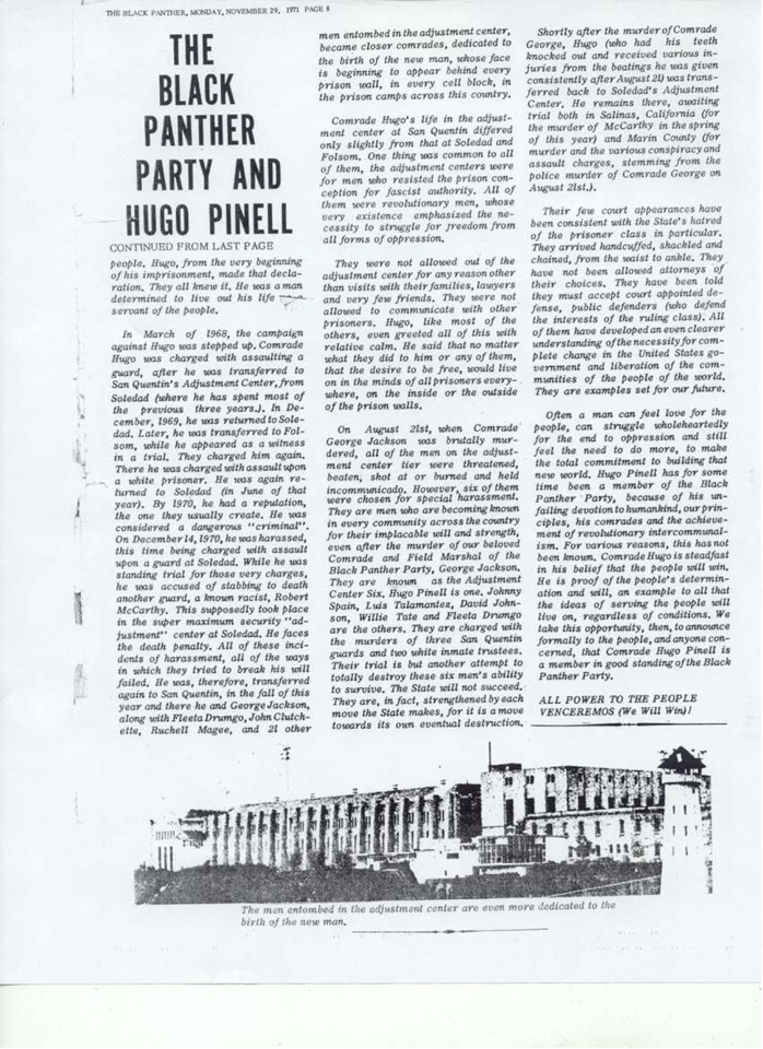 'The Black Panther Party and Hugo Pinell' by The Black Panther 112971-2, web