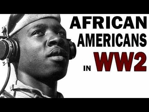 'African Americans in WW2' graphic