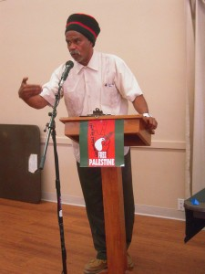"Dedon Kamathi speaks at the HP Boycott Campaign's ""From Ferguson to Mexico to Palestine"" Community Forum on June 6, 2015."