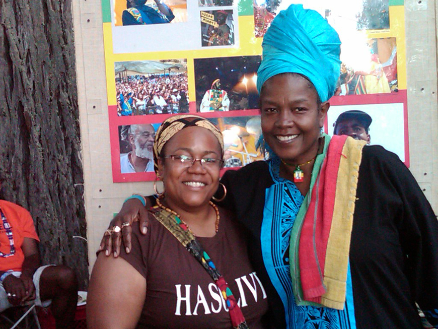 Denise Carter and Sister Carol at Reggae on the River