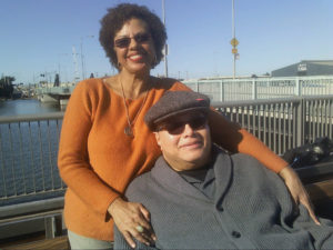 Guy Johnson captured at Bayview Gateway with his lovely wife – Photo: Rochelle Metcalfe