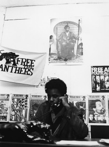 Only 15 years old when he co-founded the Philadelphia chapter of the Black Panther Party, here is Minister of Information Mumia at his desk in 1970 in a photo taken and published by the Philadelphia Inquirer. From that point on, Mumia's radical politics were well known to the powers that be in Philly.