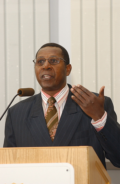 """On Feb. 11, 2009, Amanda Taub writes in a story headlined """"The Curious Case of Léopold Munyakazi, """"In 2006, he gave a controversial speech to a faculty forum at the University of Delaware, in which he argued that what happened in Rwanda had not been genocide because Hutus and Tutsis were not different ethnicities, and claimed that what happened should be considered part of a civil war."""""""