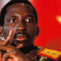 Thomas Sankara, president of Burkina Faso 1983-1987