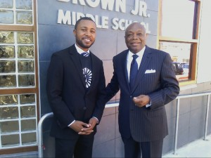 Willie Brown and founding principal Demetrius Hobson – Photo: Rochelle Metcalfe