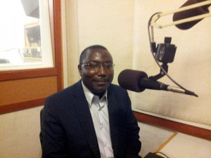 Father Thomas Nahimana at KPFA Radio, September 2015