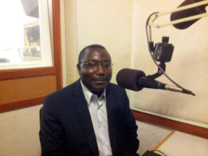 Father Thomas Nahimana at KPFA Radio in Berkeley