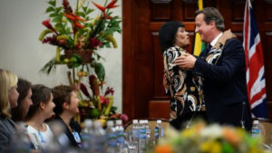 Jamaica-PM-Portia-Simpson-Miller-British-PM-David-Cameron-hug-as-talks-end-Jamaica-House-100915-by-PA-300x169, David Cameron's visit to Jamaica: Amusing and dangerous, World News & Views