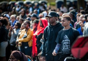 Teenagers came with a strong sense of purpose. One young man said his community sent him to the march as a boy and expects him to return as a man. – Photo: Urban News Service