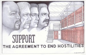Support-the-Agreement-to-End-Hostilities-art-by-Michael-D.-Russell-web-300x195, Tactical targeting of iconic activist Hugo Pinell, Behind Enemy Lines