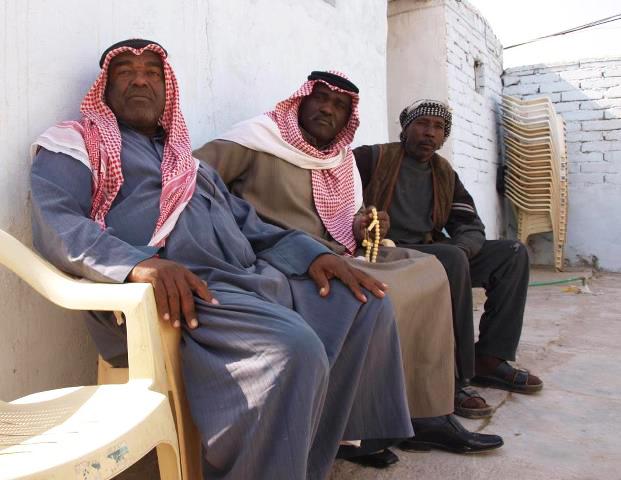 Elders who are descendants of the Zanj, Black men in Southern Iraq