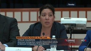 Immigration attorney Ofelia L. Calderón, who has represented Dr. Munyakazi pro bono for nine years.