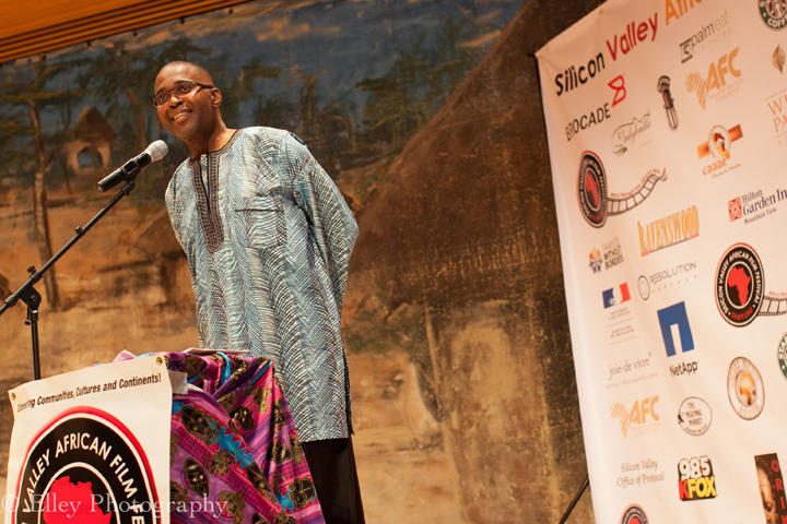 Festival Director Chike C. Nwoffiah welcomes guests at the opening ceremony of SVAFF 2015. – Photo: Elley Ho, Elley Photography
