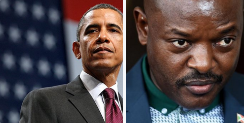 President Obama and Burundian President Nkurunziza. Why do President Obama and the U.S. State Department express so much more concern with the presidential succession struggle in Burundi than in the Republic of Congo, the Democratic Republic of the Congo, Uganda and Rwanda?