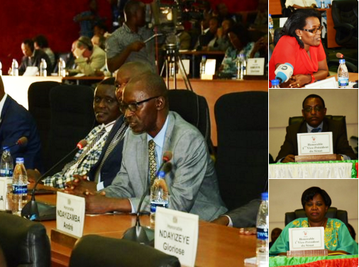 Burundi's National Assembly debates the country's response to the African Union Peace and Security Council, Dec. 21, 2015.