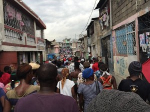 Haitians in Bel Air march on Dec. 12 to demand new elections. – Photo: Haiti Information Project