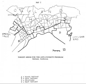 Joe Debro on racism in construction, Map I 'Target Areas for the Anti-Poverty Program, Oakland'