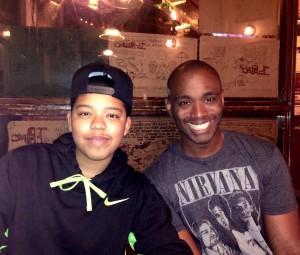 M and his mentor, LeRon Barton