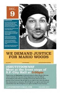 Mario Woods Shutdown SF 120915 poster