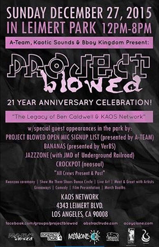 Project Blowed 21st Anniversary Celebration poster