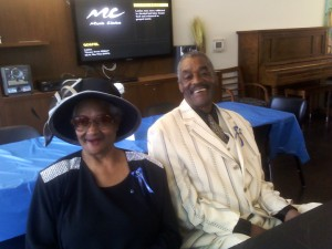 Regina Douglas, who passed in October, enjoys an event with James Jordan at Armstrong Place. – Photo: Rochelle Metcalfe