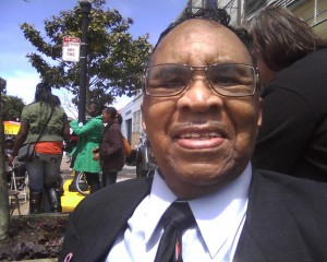 Rev. Victor Medearis, pictured here in Mendell Plaza at Third and Palou in the summer of 2012, was a powerful force for good in Bayview Hunters Point. – Photo: Rochelle Metcalfe