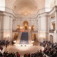 From this angle, the inauguration of Mayor Ed Lee looks formal and normal, but it sounded like anything but. – Photo: Noé Serfaty