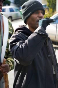 Mario Woods protest at Ed Lee's house Dee Allen speaks Glenn Park 010716 by Peter Menchini