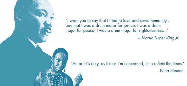 Martin Luther King, Nina Simone graphic