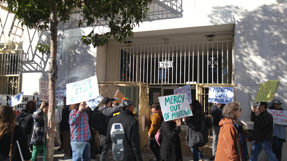 Midtown Protests Mercy Housing Picketers 121415
