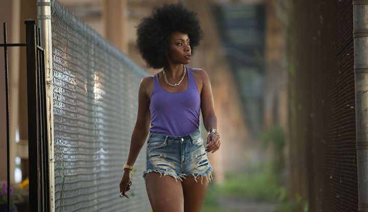 "Teyonah Parris as Lysistrata in Spike Lee's ""Chi-Raq"""