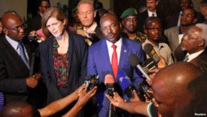 US-UN-Ambassador-Samantha-Power-Burundian-President-Pierre-Nkurunziza-Angolan-UN-Ambassador-Ismael-A.-Gaspar-Martins-press-conf-012216-by-Reuters-300x169, Burundi: Nkurunziza refuses to bow to Samantha Power's demands, World News & Views