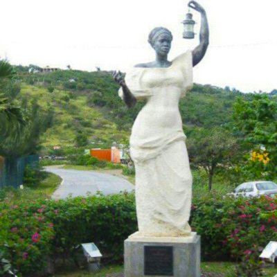 Black Lady Liberty on the island of St. Martin