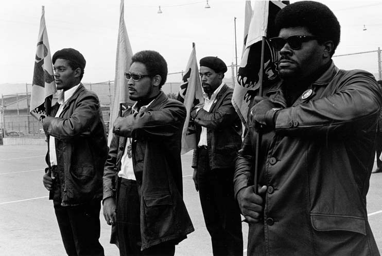 Big Man leads a Panther drill at a Free Huey rally at DeFremery (Lil Bobby Hutton) Park in July 1968. – Photo: Pirkle Jones