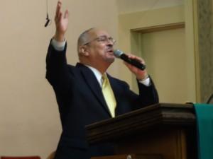 Dr. Jeremiah Wright preaches at Rev. Cheryl Ward's celebration of 37 years in ministry, Jan. 27. – Photo: Wanda Sabir
