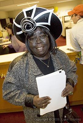 Espanola Jackson, activist and advocate extraordinaire, files on Jan. 2, 2006, to run for District 10 Supervisor. – Photo: ©Luke Thomas