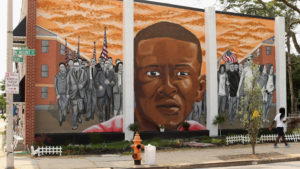 Freddie Gray mural in Baltimore