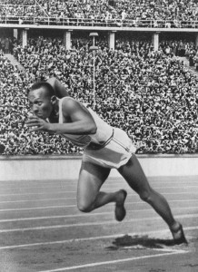 Jesse Owens cut through the racism and won four gold medals in the 1936 Olympics, held in Berlin during the rise of Hitler's power.