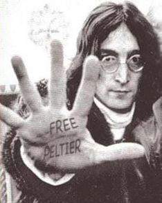 John Lennon of the Beatles makes his demand. That's how long people have been pushing for Leonard's release.