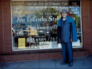 Mr. Jose LaCrosby poses proudly outside his shop. – Photo: Olivia Wright