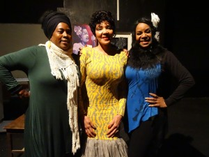 "Regina Evans, Nina Causey and Zorina London were a part of the Human Trafficking Awareness Weekend at Black Rep. Ms. London flew in from China for her play, ""A Night of Day."" Billie Holiday was trafficked as a child and exploited in other horrific ways as an adult. Ms. Causey portrayed Lena Horn. – Photo: Wanda Sabir"