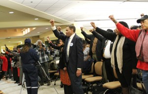 A human rights movement was launched late Sunday night at the Chicago State University where United Nations officials heard testimonies from African Americans demanding reparations, accusing America of committing economic violence and educational apartheid against Blacks. – Photo: Chinta Strausberg, Chicago Crusader