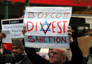 BDS protest in Melbourne, Australia against Israel's Gaza Blockade and attack on humanitarian flotilla in 2010.