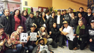 Supporters gather around the Nietos after the verdict. – Photo: Poor News Network