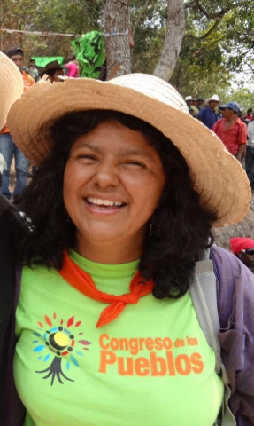 Berta Cáceres 1973-2016. – Photo: Father Melo Coto, S.J., and ISN