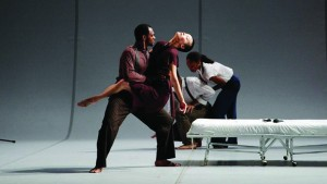 "Bill T. Jones-Arnie Zane Company's ""'Analogy/ Dora Tramontane"" premieres at Yerba Buena Center for the Arts in San Francisco."