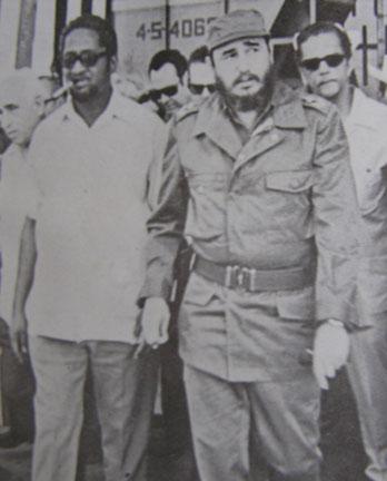 Burnham visits Castro in Cuba in the 1970s.