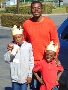 Mario and his sons, Ethan and Galen out for the day