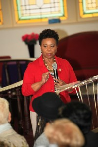 Congresswoman Barbara Lee of Oakland honored the mothers by speaking at the Oscar Grant Legacy Weekend. – Photo: Love Not Blood Campaign