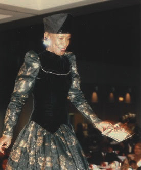 Sister Nida Ali on the runway at an Evening of Elegance